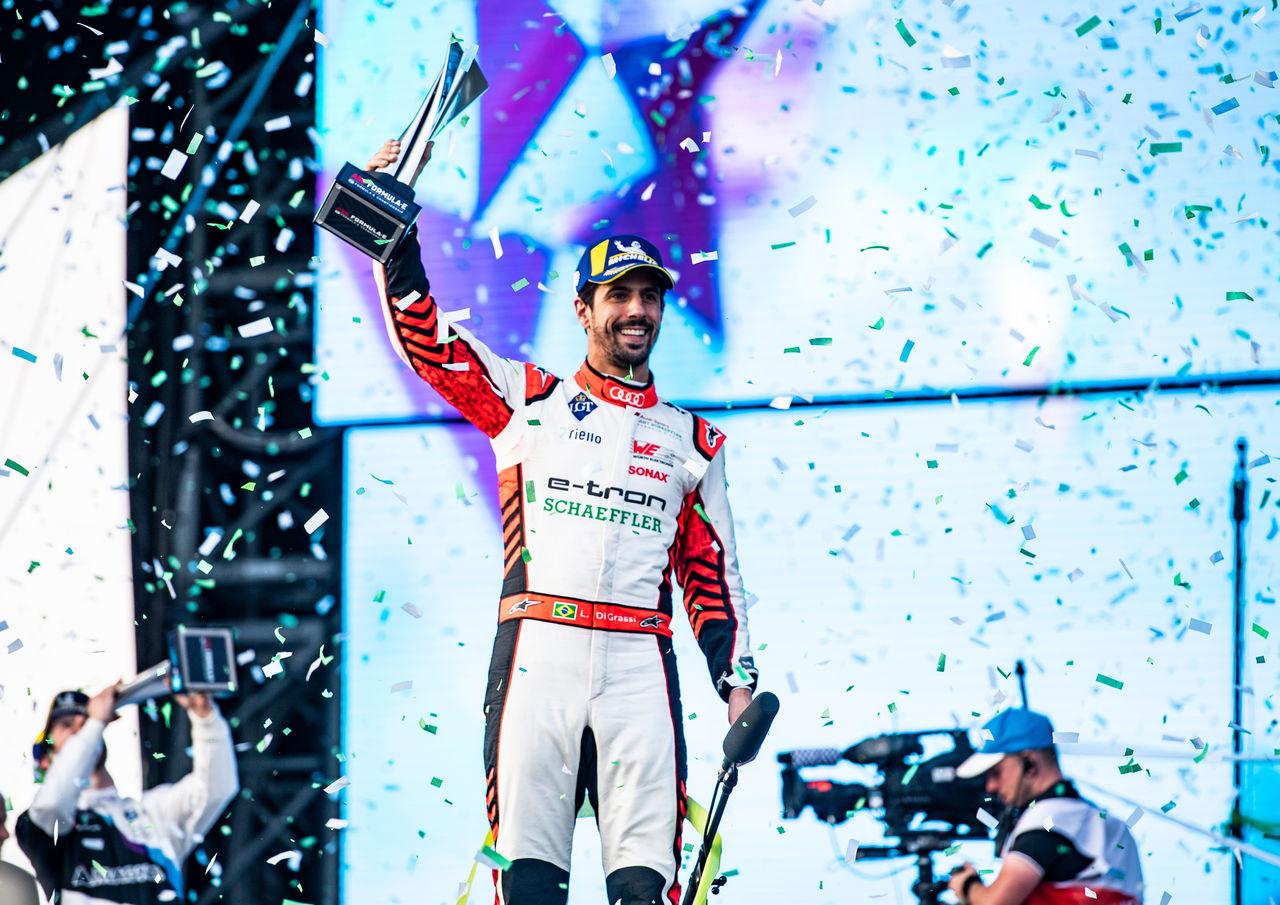 Lucas di Grassi celebrates Formula E podium in Riyadh