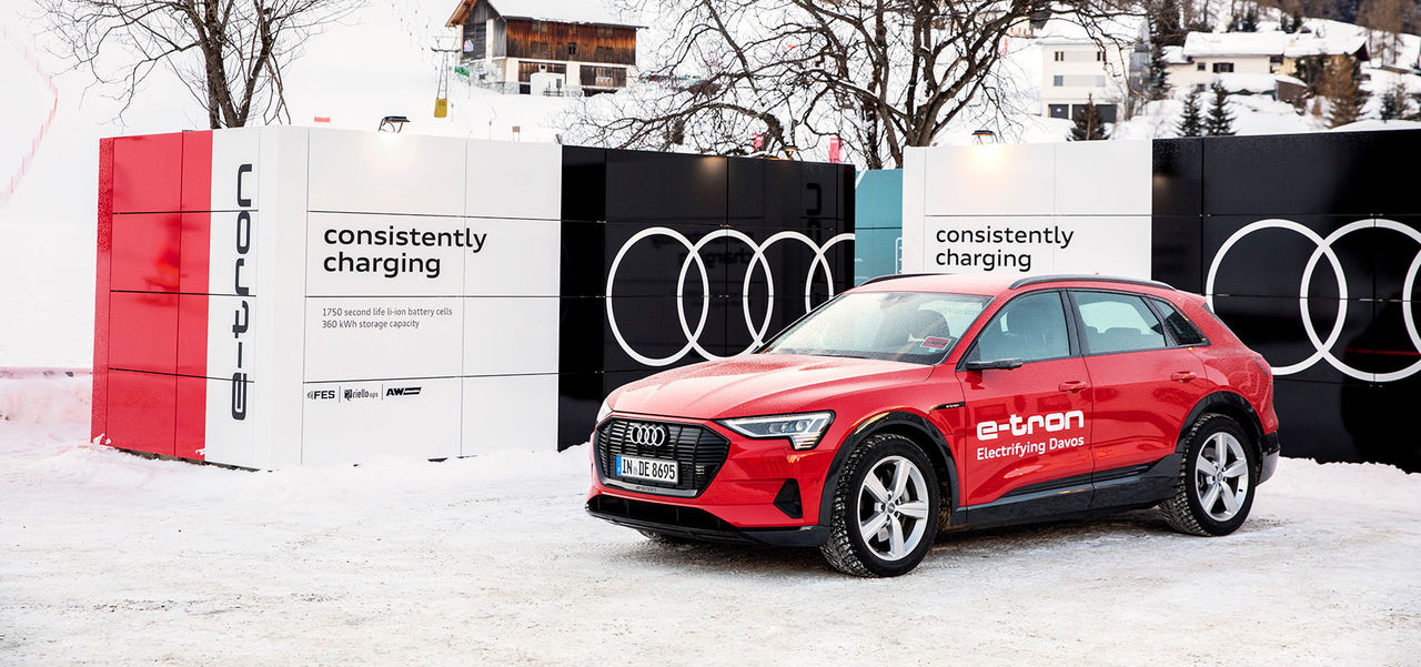 Audi provides sustainable mobility and charging solutions at World Economic Forum in Davos