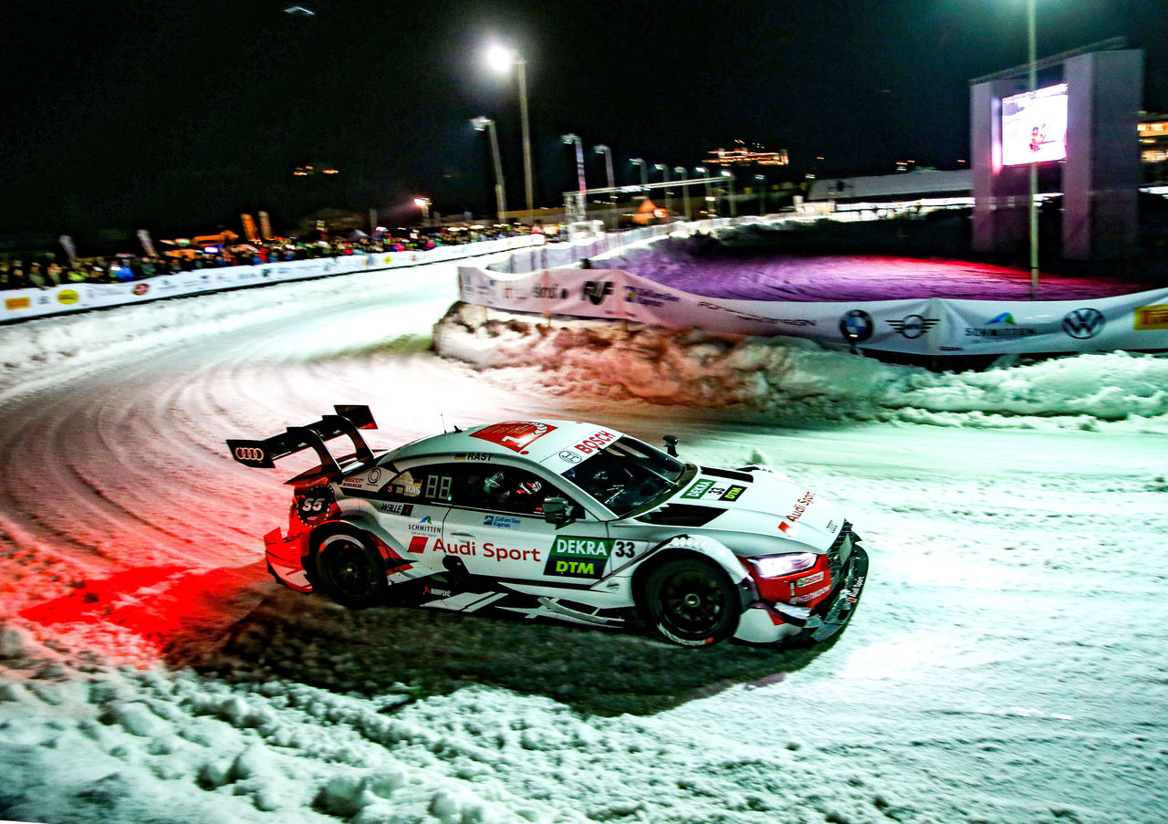 Audi racing drivers thrill fans at GP Ice Race