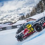 The Audi e-tron faces the...