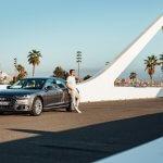 Testfahrt mit dem neuen Audi...
