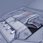Engine compartment designing at Audi