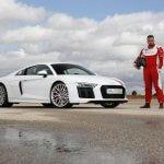 Testfahrt mit dem Audi R8...