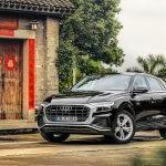 Der Audi Q8 auf Testfahrt...