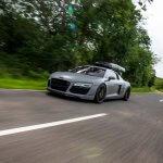 Mit einem Audi R8 unterwegs...
