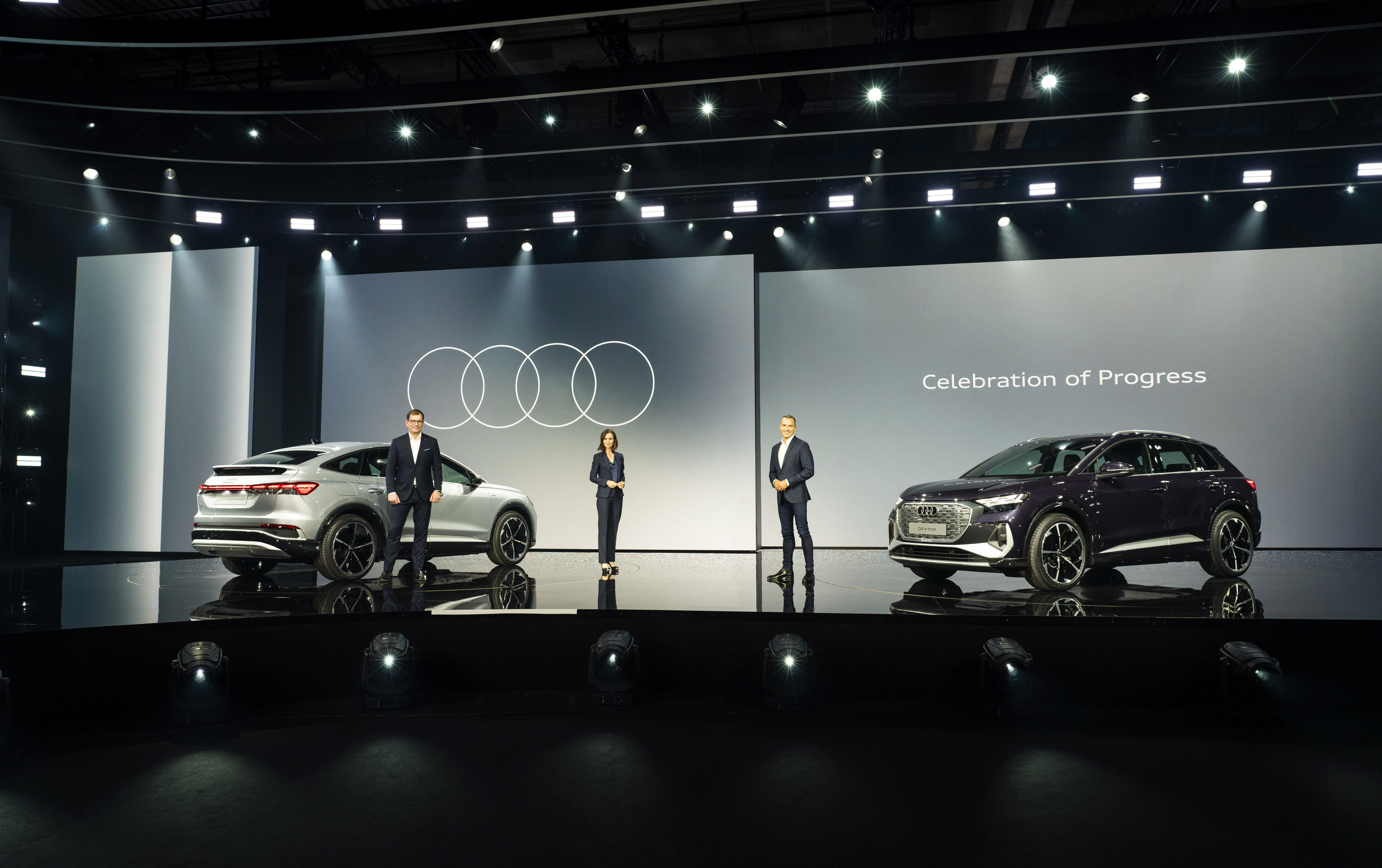 Celebration of Progress: the online world premiere of the Audi Q4 e-tron