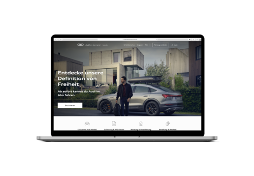 Audi further extends the premium-mobility service 'Audi on demand' in Germany