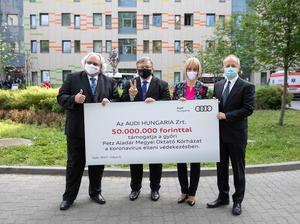 Audi Hungaria Supports The Hospital In Győr For The Fourth Time In The Fight Against The Coronavirus