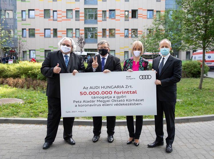 Audi Hungaria unterstützt Győrer Krankenhaus erneut im Kampf gegen das Coronavirus