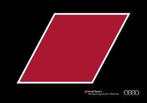 Audi quattro Broschüre