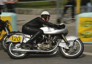 The 1953 NSU Rennmax on the Donau Ring 2004