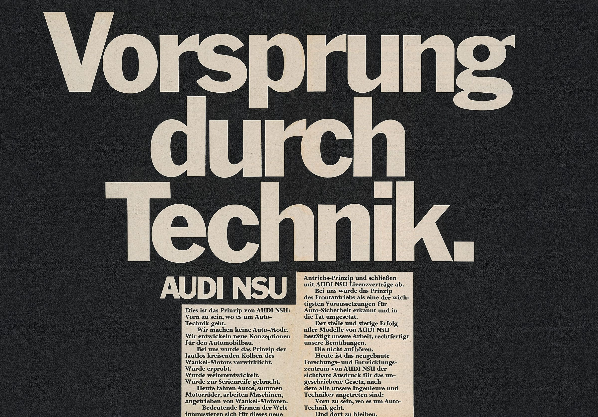 """A Slogan with History: Audi marks 50 Years of """"Vorsprung durch Technik"""" - Image 6"""
