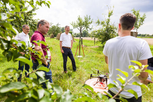Drones for environmental protection: Successful monitoring of fruit tree orchard stocks