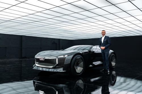 The online world premiere of the Audi skysphere concept