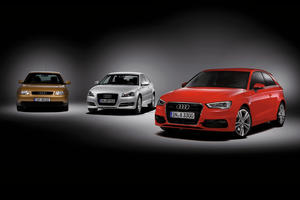 Three generations of the Audi A3