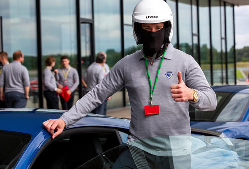Ingolstadt's ice hockey team tests top sport models from Audi