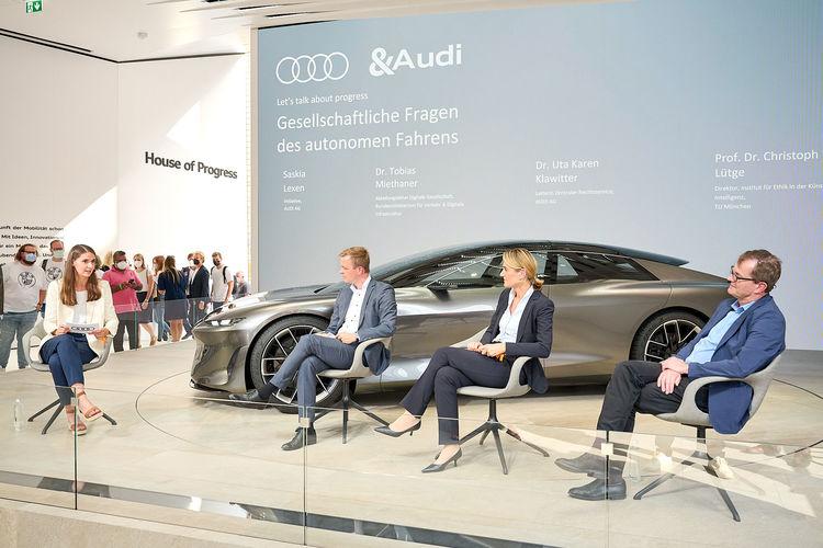 Audi diskutiert gesellschaftliche Dimension des autonomen Fahrens mit Expert_innen auf IAA