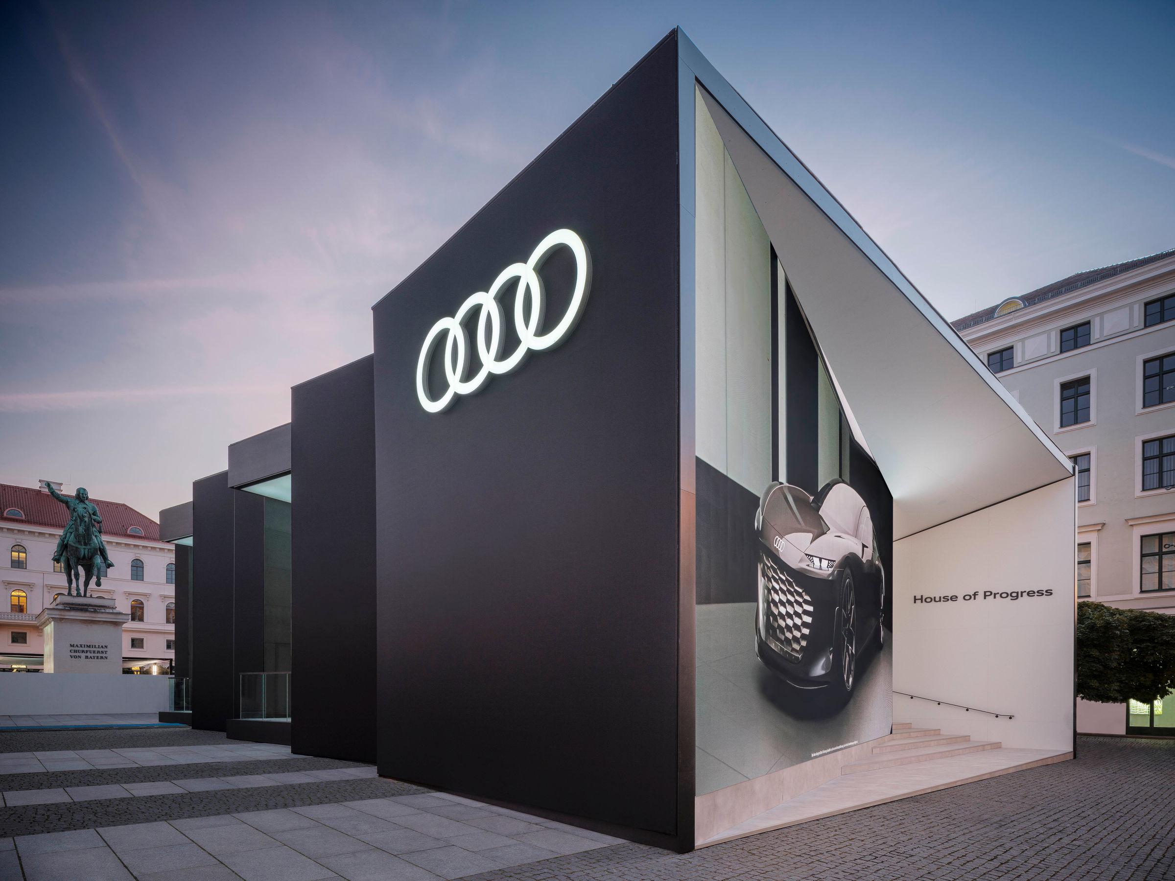 Impressionen des Audi-Auftritts bei der IAA Mobility 2021 in München