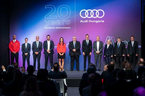 Audi Hungaria feiert 20 Jahre Technische Entwicklung und gibt Zukunftsausblick
