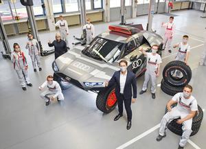 Apprentices build show car of the Audi RS Q e-tron