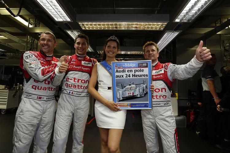 Audi in Le Mans geschlossen an der Spitze