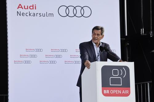 Betriebsrat fordert auf Open Air Veranstaltung elektrische Modelle für Neckarsulm