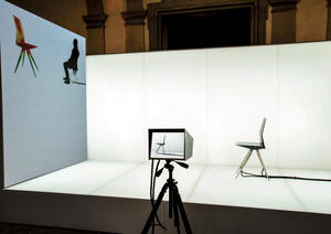 """R18 Ultra Chair"" prototype at the Salone Internazionale del Mobile in Milan"