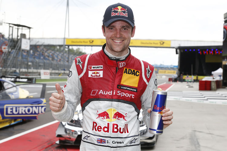 Audi driver Jamie Green gives himself a gift