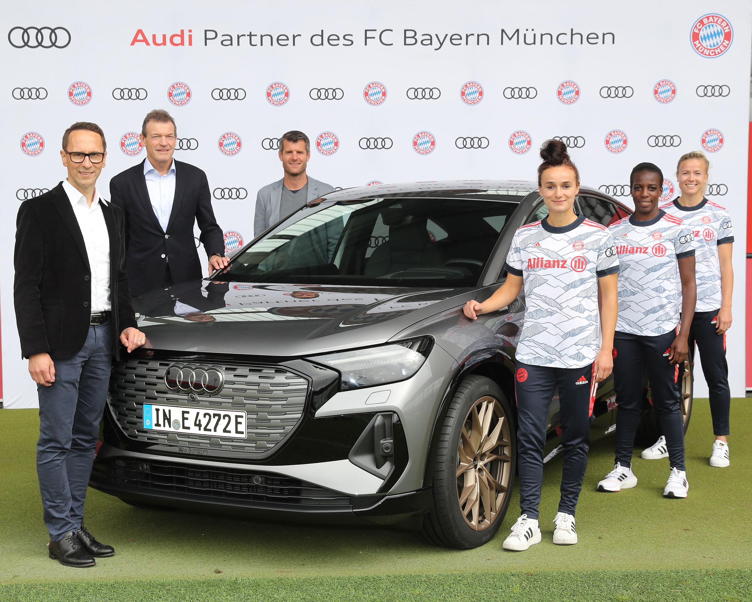 Audi becomes a partner of women's soccer at FC Bayern Munich