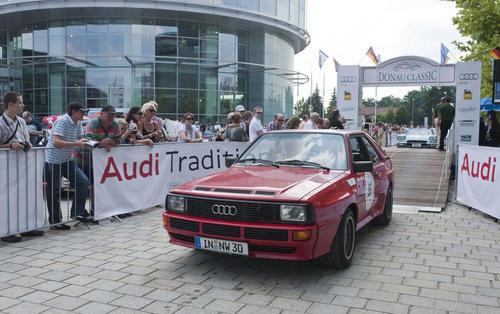 Jubilare von Audi Tradition bei Donau Classic