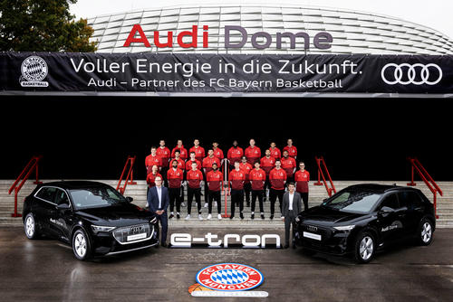 Audi is electrifying the basketball professionals from FC Bayern