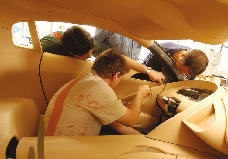 Making of des Audi Le Mans quattro: Der Innenraum nimmt Gestalt an