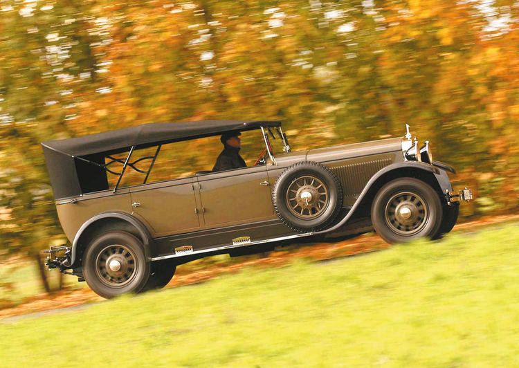 After restoring work lasting two years, the imposing Audi Imperator dating from 1929 is one of the gems of the Audi Tradition collection in Ingolstadt
