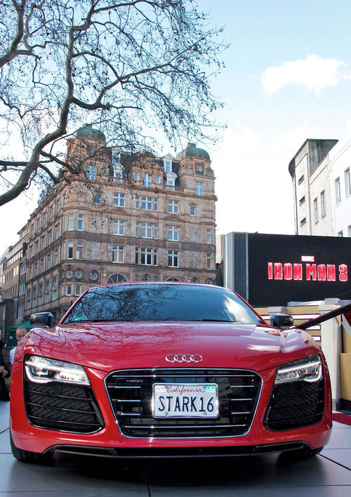Stars turn out for the special screening of Iron Man 3 including the Audi R8 e-tron