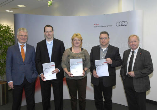 Cleverness lohnt sich! Das zeigte sich gestern bei der Prämierung der pfiffigsten Audi-Mitarbeiter-Ideen 2013