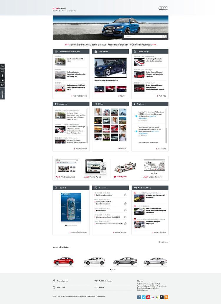 Audi Kommunikation mit neuem Newsroom