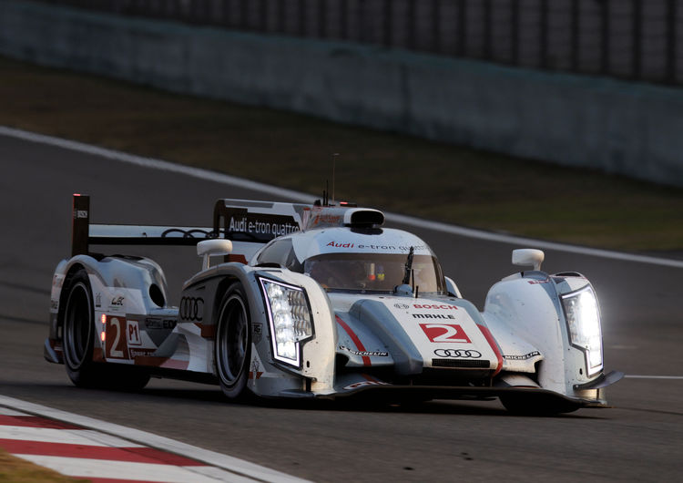 Audi-Pilot Allan McNish in Startreihe eins