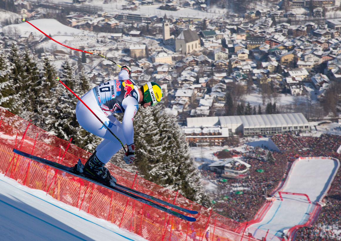 Dominik Paris (I) wins the downhill race