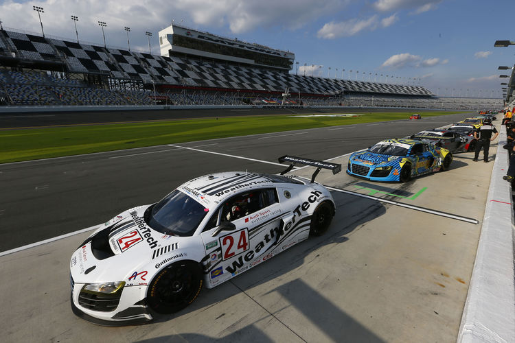 Audi on third row of the grid at Daytona
