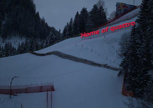 "The claim at the downhill slope ""Streif"""