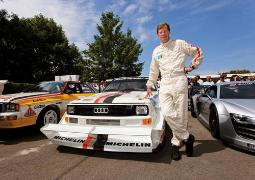 Returning 25 years later to Pikes Peak in the United States in the Audi Sport quattro S1: Walter Röhrl.