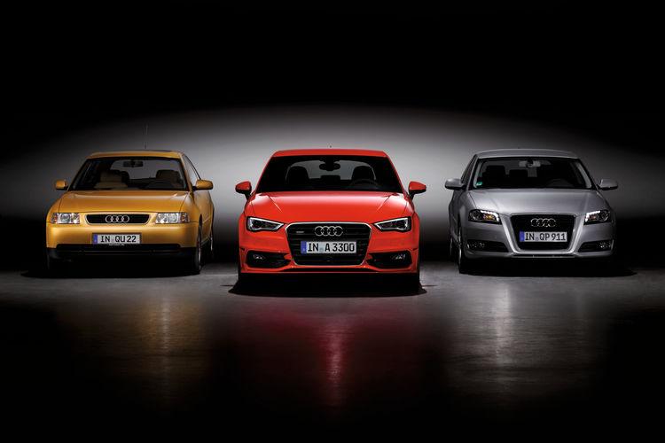 Die drei Generationen des Audi A3