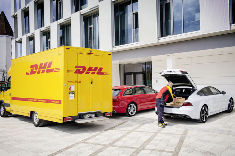 Audi, DHL and Amazon deliver convenience