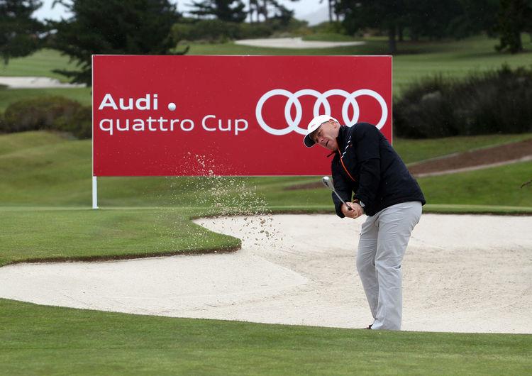 Prominente Unterstützung für die Teilnehmer am Weltfinale des Audi quattro Cup in Südafrika: Der frühere Skiweltmeister und mehrfache Weltcupsieger Didier Cuche besuchte das Turnier als Ehrengast.