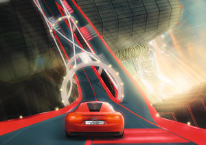 With the Audi Space on PlayStation Home Audi fans can experience the new e-tron concept car in the driving game Vertical Run starting late 2009