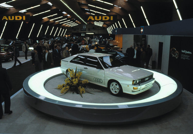 The start: First Audi quattro was presented at the Geneva Motorshow in march 1980