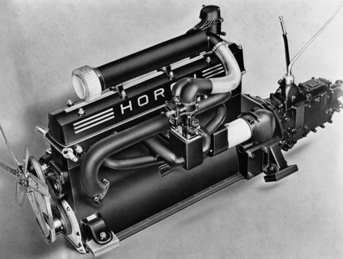 Horch 8-cylinder inline engine, 5 l, 100 hp (Status: 1935-1936), 120 hp (Status: 1937-1940)