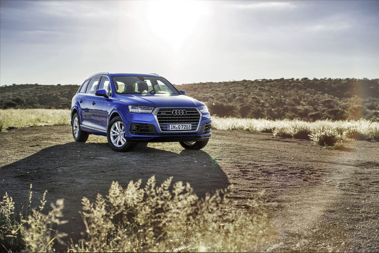 Der neue Audi Q7 auf seiner letzten Abnahmefahrt in Namibia