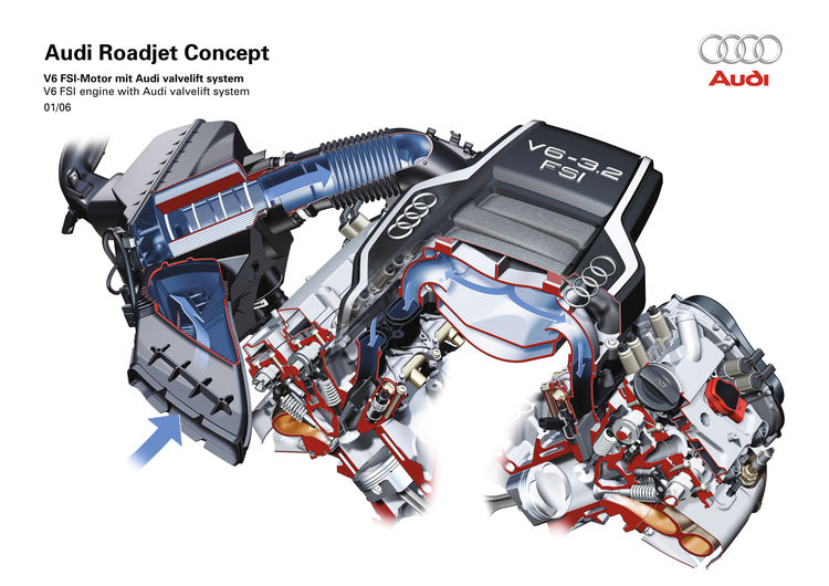 Audi Roadjet Concept - V6 FSI engine with Audi valvelift system