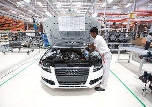 Audi A4 production in Aurangabad, India